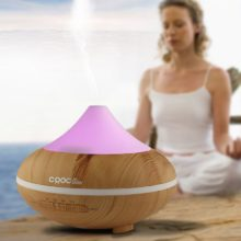 Diffuser Aroma | Wood Aroma Lamp