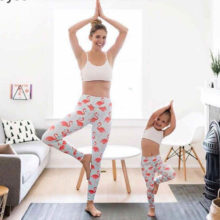 3D Printed Yoga Pants | Mommy & Child | Flamingo